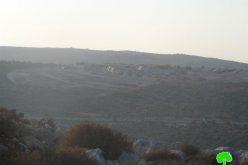 كاميرا مركز أبحاث الأراضي ترصد عملية التوسعة التي تشهدها مستعمرة بروخين