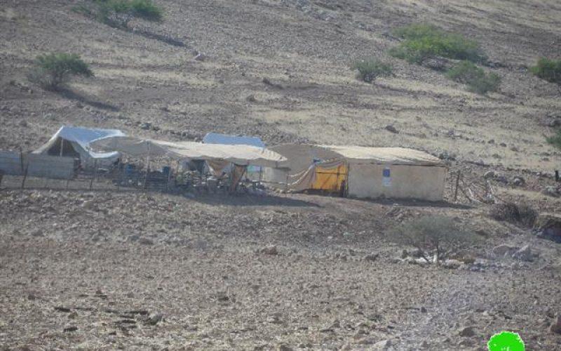 إخطار 4 عائلات من قرية العقبة بوقف البناء لمساكنهم / محافظة طوباس