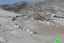 Demolition of residences and barns in Khirbet al-Rahwa South of al-Dahrya town/ Hebron governorate