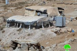 Stop work orders on structures in Wadi al-Rakhaim