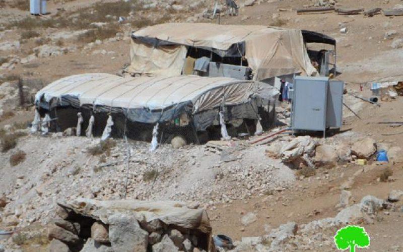 Stop work orders on structures in Wadi al-Rakhaim