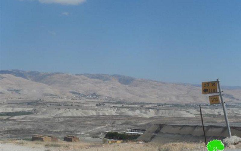 إحراق ما يزيد عن 30 دونماً من الأراضي الحدودية بين الأردن وفلسطين