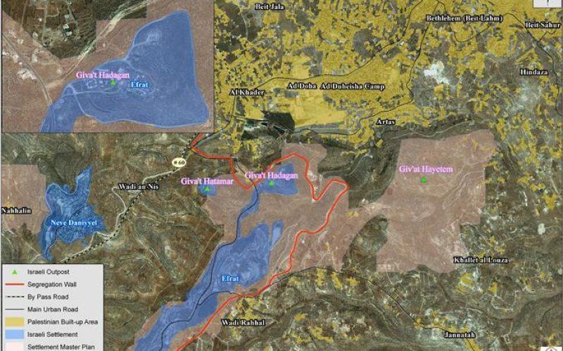 المحكمة العليا الاسرائيلية تؤكد الاستيلاء على 1700 دونما من اراضي محافظة بيت لحم