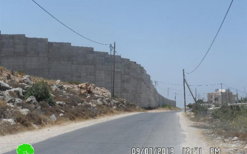 The town of al-Walaja is trapped by the segregation wall and is under the spot of  future colonial plans