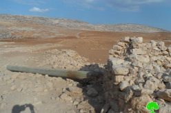 Destroying the electricity network of Khirbet al-Taweel