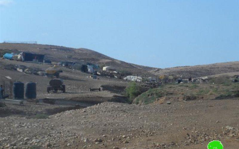 The occupation notifies Khirbet Um al-Jamal, a Bedouin community with demolition