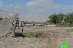 هدم 7 منشآت سكنية وزراعية في قريتي الجفتلك وفصايل الفوقا / محافظة أريحا