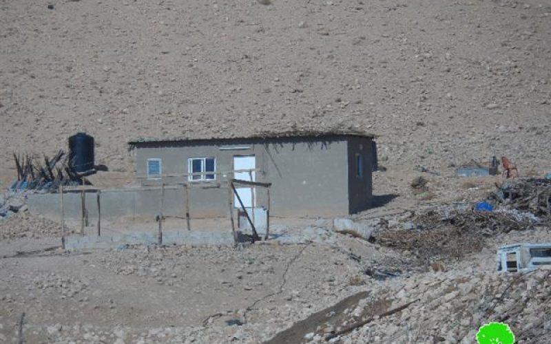 تهديد مسكن بوقف العمل والبناء في قرية الجفتلك / محافظة أريحا