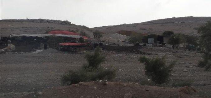 Notifying 10 Bedouin families with eviction under the pretext of holding  military training in Tubas