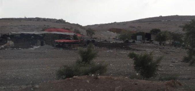 إخطار 10 عائلات بدوية بإخلاء مساكنهم بحجة التدريبات العسكرية في خربة ابزيق / محافظة طوباس