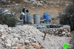 Demolition orders on 3 cisterns implemented within a land reclamation project carried out by Land Research Center in Hebron