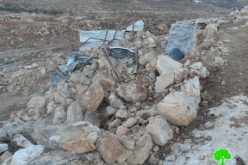 The Israeli occupation targets Khirbet al-Taweel with demolition again