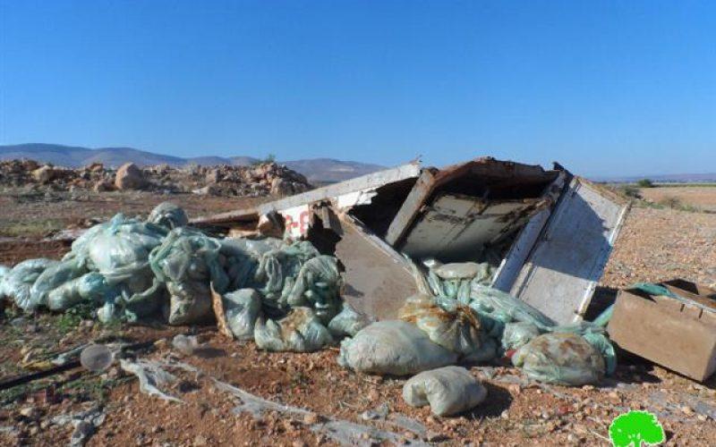 الاحتلال الإسرائيلي يهدم عدداً من الغرف السكنية في قرية بردلة