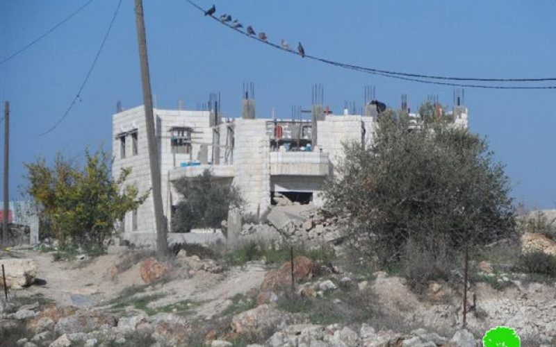 Stop-work orders on the Palestinian villages of al-Funduq and Jinsafut