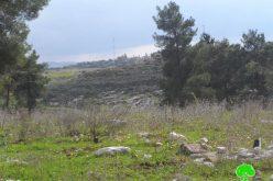 الاحتلال  الإسرائيلي يخطر بوقف البناء لمنتزه في بلدة قفين