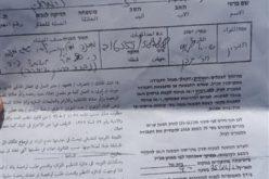 إخطار بوقف العمل في بركس زراعي بخربة التبان شرق يطا