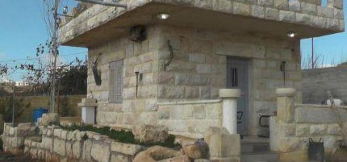 Stop-work orders on two agricultural rooms in Beit Ummar