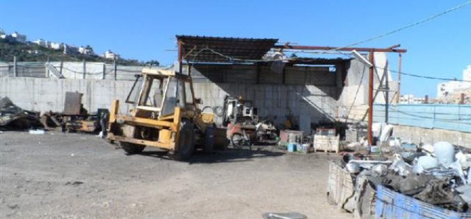 Stop-work orders on barracks in Idhna village in Hebron