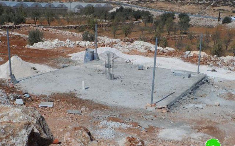 إخطارات بهدم 4 آبار مياه زراعية في قرية كرمة نفذها مركز أبحاث الأراضي