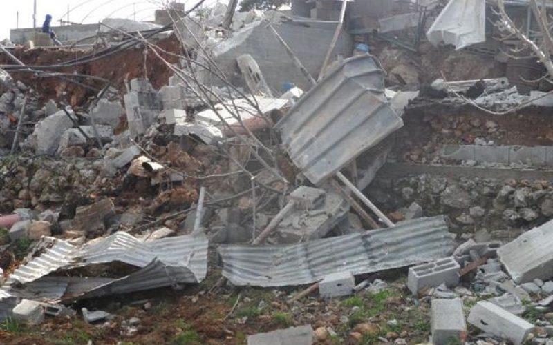 الاحتلال يهدم منشأة زراعية في واد الغروس شرق الخليل