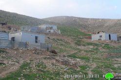 الاحتلال الإسرائيلي يخطر تجمع عرب الكعابنة في منطقة واد القلط بوجوب الإخلاء
