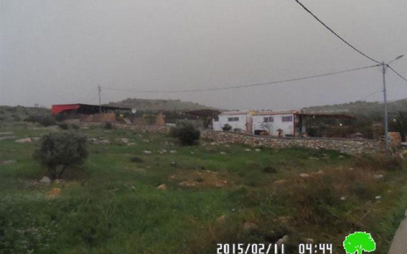 إخطار بوقف البناء في قرية شوفة / محافظة طولكرم