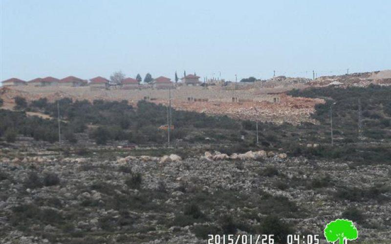 """مستعمرة """" بروخين""""  الإسرائيلية تتطور على حساب أراضي قرية بروقين الفلسطينية"""