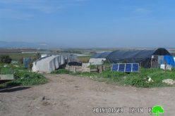 إخطارات بوقف البناء في خربة الدير / محافظة طوباس