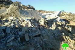 The Israeli occupation demolishes residences and a agricultural structure in Yatta