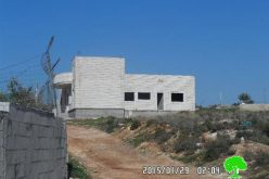 Stop-work orders on 12 residences in the village of Khrintha in Ramallah