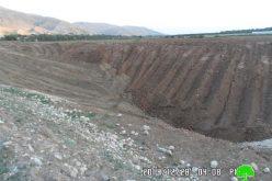الاحتلال الإسرائيلي يهدم بركة لجمع المياه في قرية الجفتلك