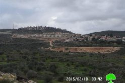 Building new colonial units and ravaging area in Kedumim colony