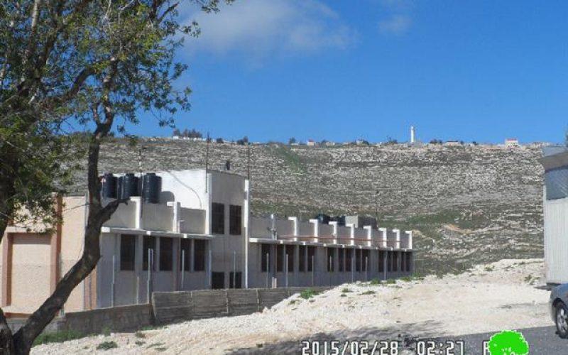 خط شعارات تحريضية على جدران مدرسة ذكور عوريف الثانوية