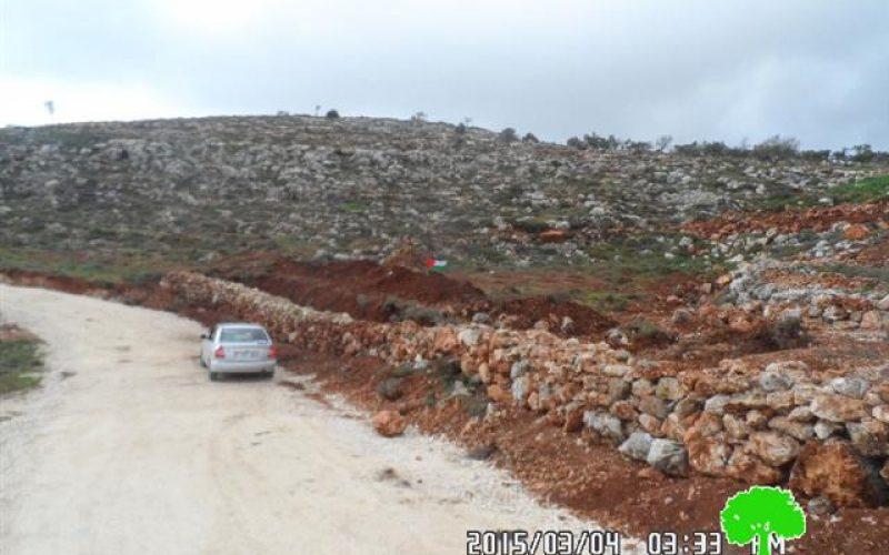 مصادرة 500 دونم لغرض إقامة بؤرة استعمارية جديدة في قرية قريوت / محافظة نابلس