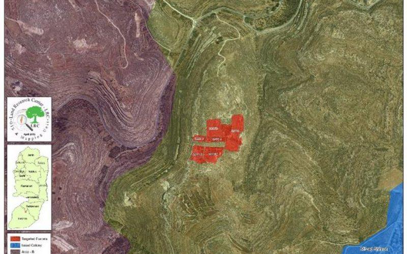 إخطارات بإخلاء أراضي في جورة الخيل شرق بلدة سعير / محافظة الخليل