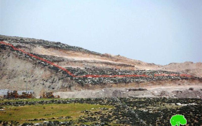 Ravaging vast area from the Hebron Khirbet of Zinuta to open colonial roads
