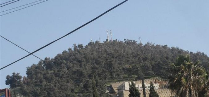 قمة جبل عيبال هدفاً للاحتلال ومستعمريه