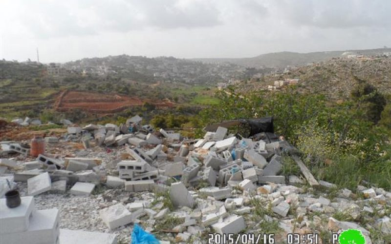 Demolishing of a industrial workshop in Silwad town