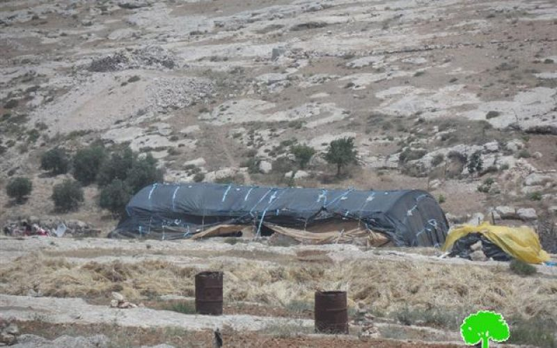 Stop-work and construction orders on agricultural and residential structures in Hebron