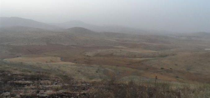جيش الاحتلال يتسبب في إحراق ما يزيد عن 500 دونم في حمصة الفوقا