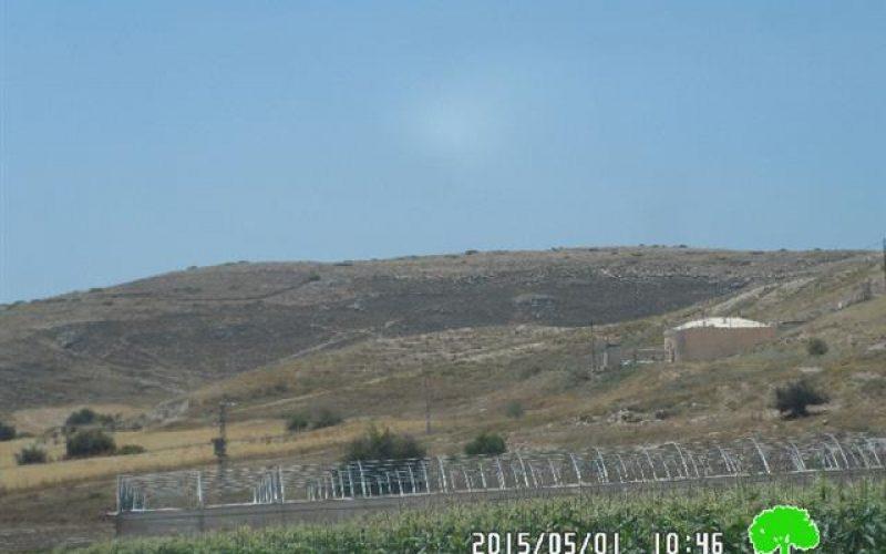 التدريبات العسكرية لجيش الاحتلال تتسبب في إحراق 50 دونم من المراعي في منطقة الحمة