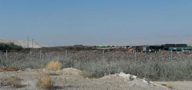 Using the lands of Palestinian Ghoor as trash dumps