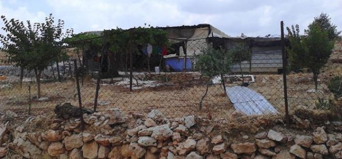 Stop-work orders on structures in the Ramallah village of Rammun