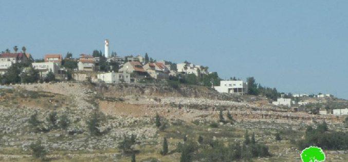 """أعمال توسعة جديدة تشهدها مستعمرة """" شيلو"""" على حساب قرية قريوت"""