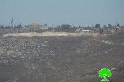 """مستعمرو """"جفعات رونين"""" يواصلون الاستيلاء على أجزاء من  أراض بلدة حوارة"""