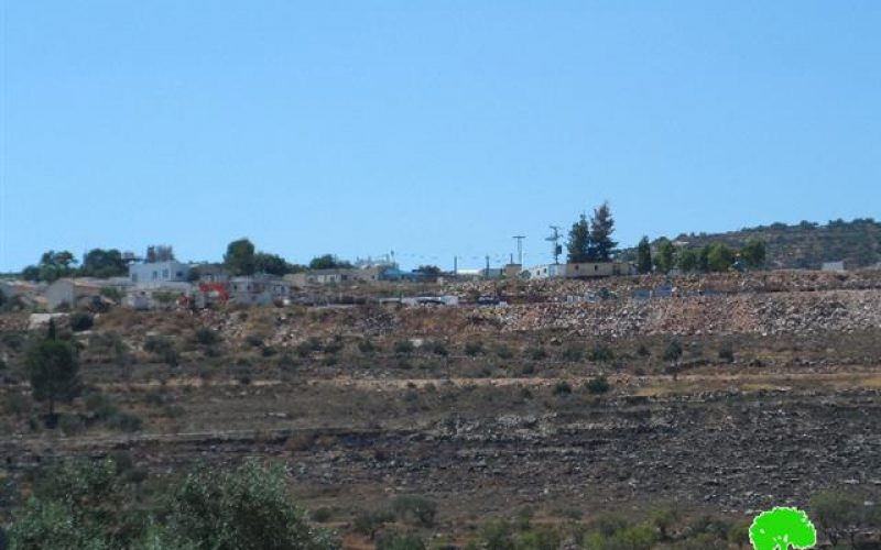 Rachelim colonists take over new area from the Nablus village of Yatma