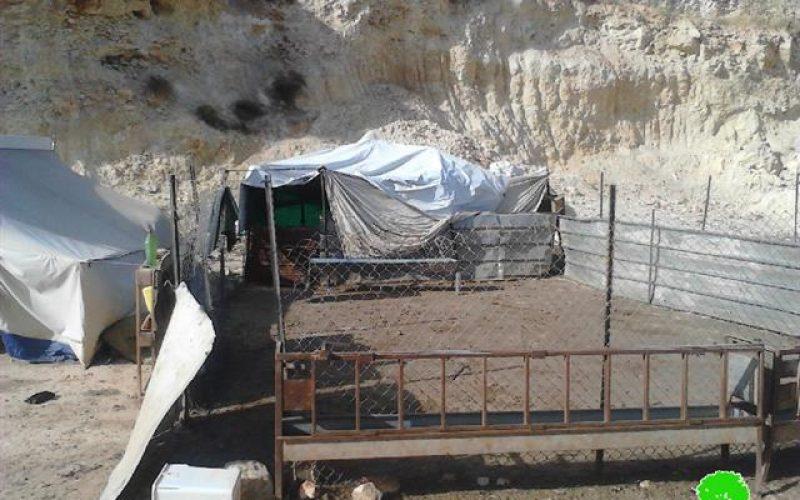 إخطارات بوقف البناء تطال عائلتين في خربة الطويل / محافظة نابلس