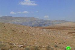 إحراق 2000 دونم من المراعي بفعل التدريبات العسكرية شرقي خربة الطويل