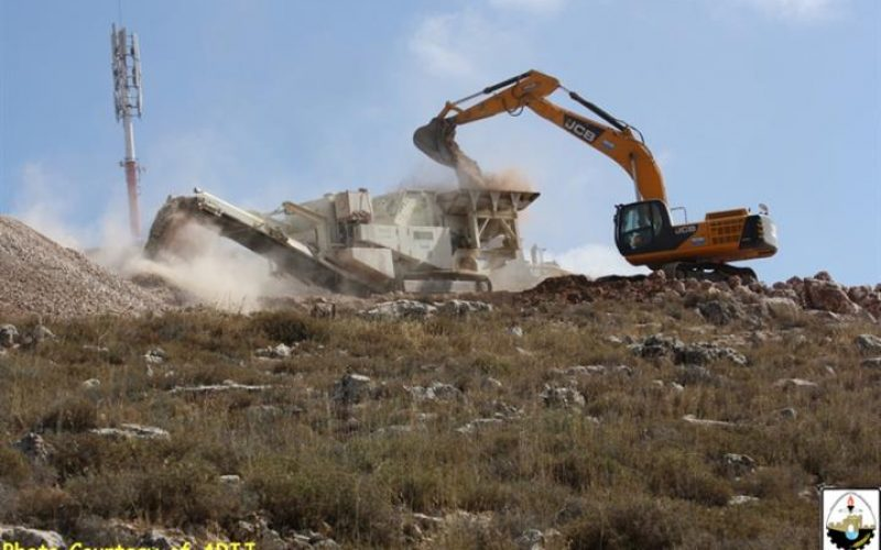 """""""The Strangulated Village of Wadi Fukin"""" <br> Land Leveling in Bethlehem for new Industrial Settlement in the Western Part of the Governorate"""
