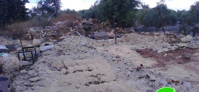 Demolition of a carwash in the Salfit village of Haris